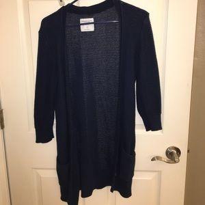 Navy blue American eagle cardigan